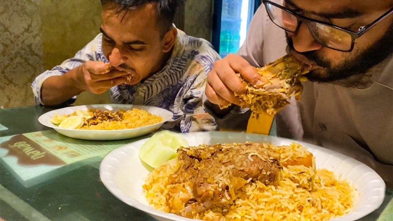 Eating Lunch(Mutton Kacchi Biryani) With Friends at Grand Nawab Puran Dhaka