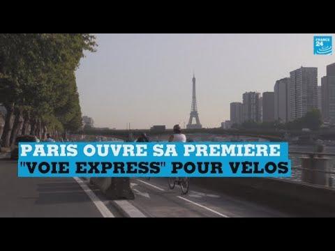 """Paris ouvre sa première """"voie express"""" pour vélos"""