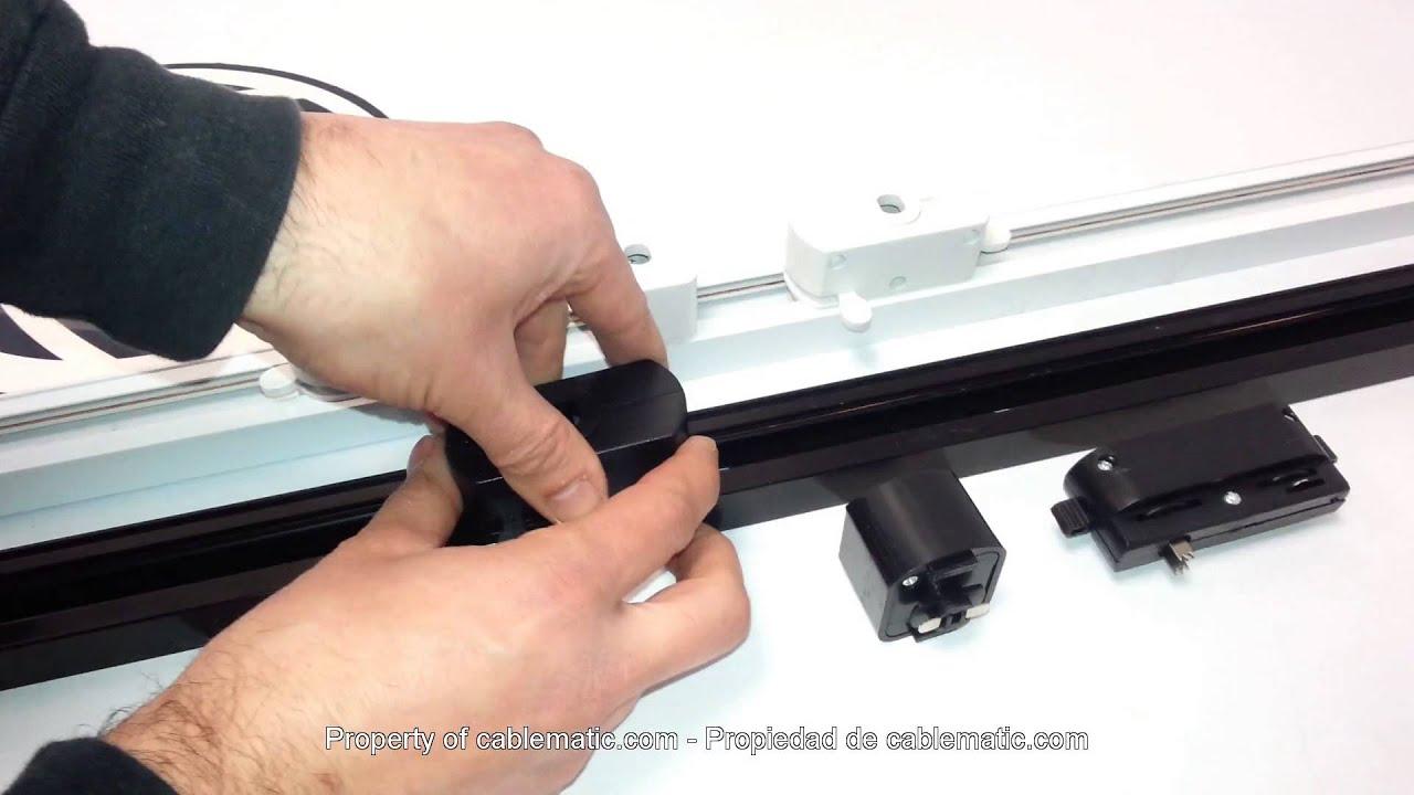 Adaptadores de carril riel para luz de techo distribuido for Rieles para toldos de techo