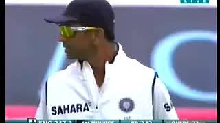 MSD bowling first time ! ( Dravid doing the wicketkeeping)