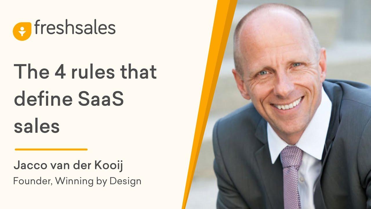 Jacco van der Kooij: The 4 Rules that define SaaS Sales