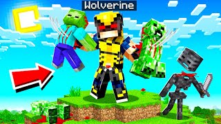 Playing as WOLVERINE in MINECRAFT!