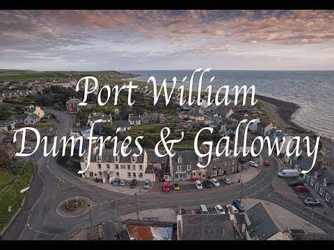 Port Williams Dumfries and Galloway aerial drone Scotland