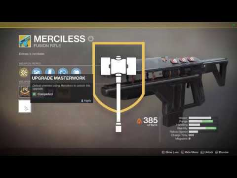 Destiny 2 | Merciless Catalyst farm and completion