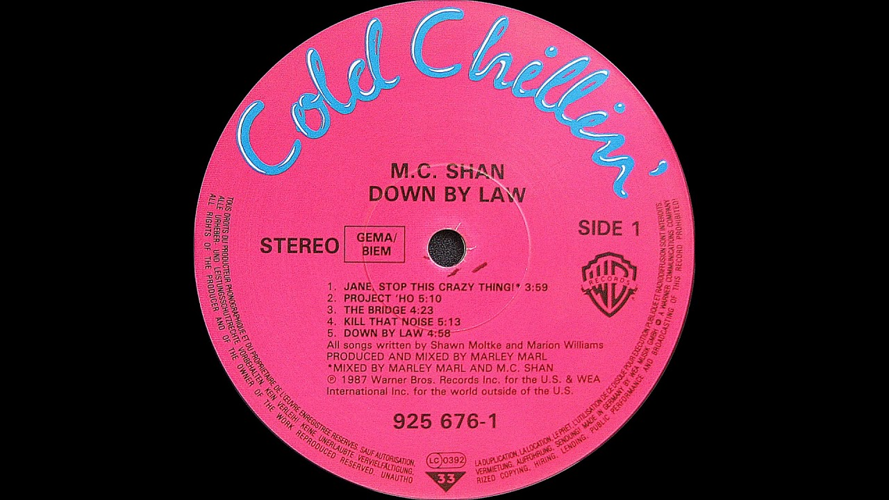 Download M.C. Shan - Down By Law ( Cold Chillin' 1987 )