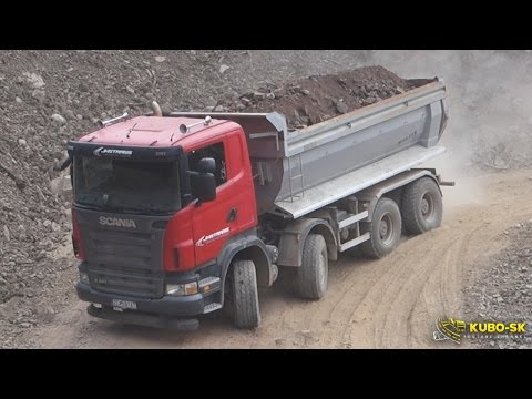 Scania R420 Dump truck - downhill from quarry