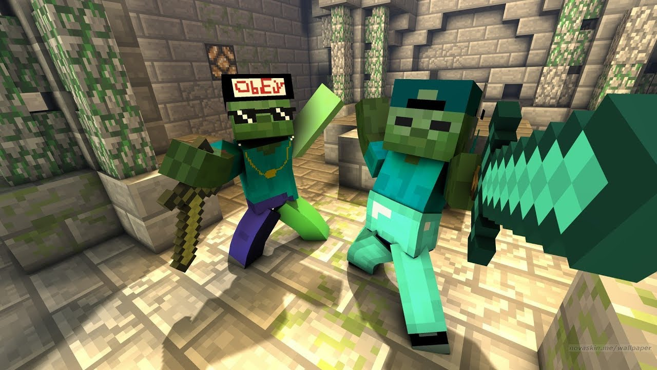 FRIENDLY ZOMBIE MARK FOUNDS HIS LONG LOST BROTHER In Minecraft !