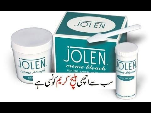 Jolen Bleach Cream Review Demo Youtube