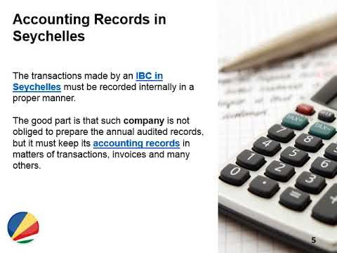 Accounting Requirements for Companies in Seychelles