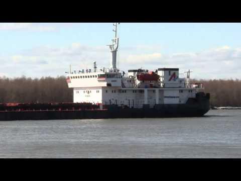 Cargo ship AKSOY Danube river 61mile, Reni-Orlivka,2012.marc.15.