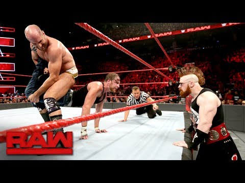 Dean Ambrose vs. Cesaro: Raw, Aug. 7, 2017