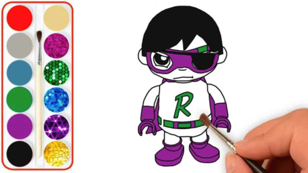 Learn Colors, Coloring Tag with Ryan Dark Titan, Coloring ...