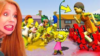 INVADINDO O MUNDO DOS SIMPSONS COM A BONECA MALVADA DO ROUND 6!!! Squid Game (GTA V)