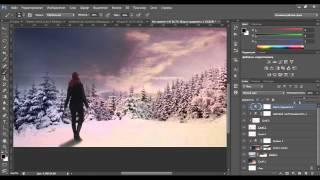Видеоурок Photoshop Новогоднее утро