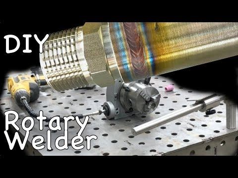 DIY Rotary Welding Table - Using Old Drill and Rotary Positioner Table