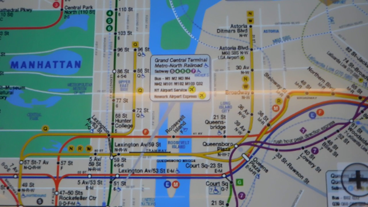 New 2nd Avenue Subway Signs Maps At A Digital Kiosk Youtube