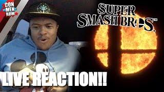 SUPER SMASH BROS 2018 ANNOUNCEMENT LIVE REACTION!! | Nintendo Direct 3.8.2018