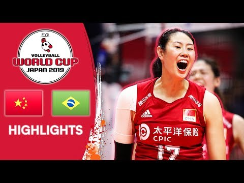 CHINA Vs. BRAZIL - Highlights | Women's Volleyball World Cup 2019