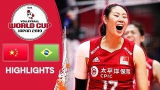 CHINA vs. BRAZIL - Highlights | Women's Volleyball World Cup 2019