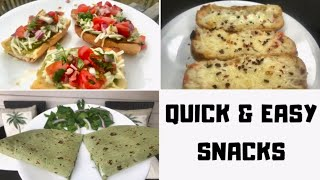 Quick & Easy Snacks For After School || Quick Appetizers || Ami