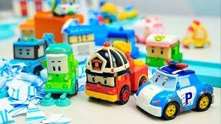 Поли Робокар Машинки 🚗 🚙 команда спасателей - Машинка Клини обиделась из-за Спуки