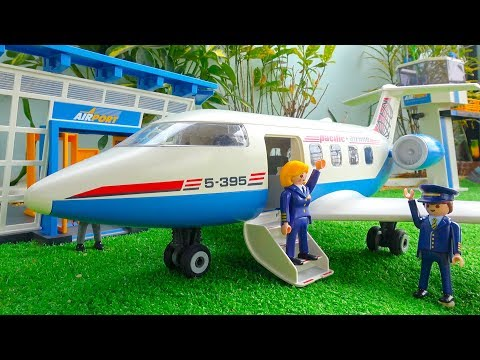 PLAYMOBIL Airport with Control Tower and Passenger Plane Toys Unboxing