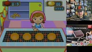 Game play spotlight: Bake Pancakes - game #016 from the Lexibook Retro TV Game Console