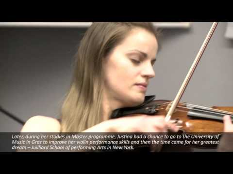 Interview with a successful person, violinist  Justina Auškelytė