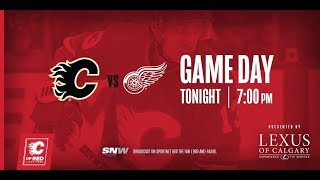 NHL 19 PS4. REGULAR SEASON 2018-2019: Detroit RED WINGS VS Calgary FLAMES. 01.18.2019. (NBCSN) !