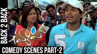 Happy Comedy Scenes   Back to Back   Part 2   Allu Arjun, Genelia   Geetha Arts