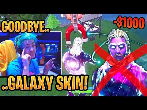 Ninja Reports RICHEST Hacker Using the Galaxy Skin! - Fortnite Best and Funny Moments