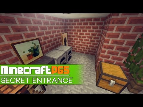 [Tutorial] Secret Entrance With Minecart Player Detection - Minecraft