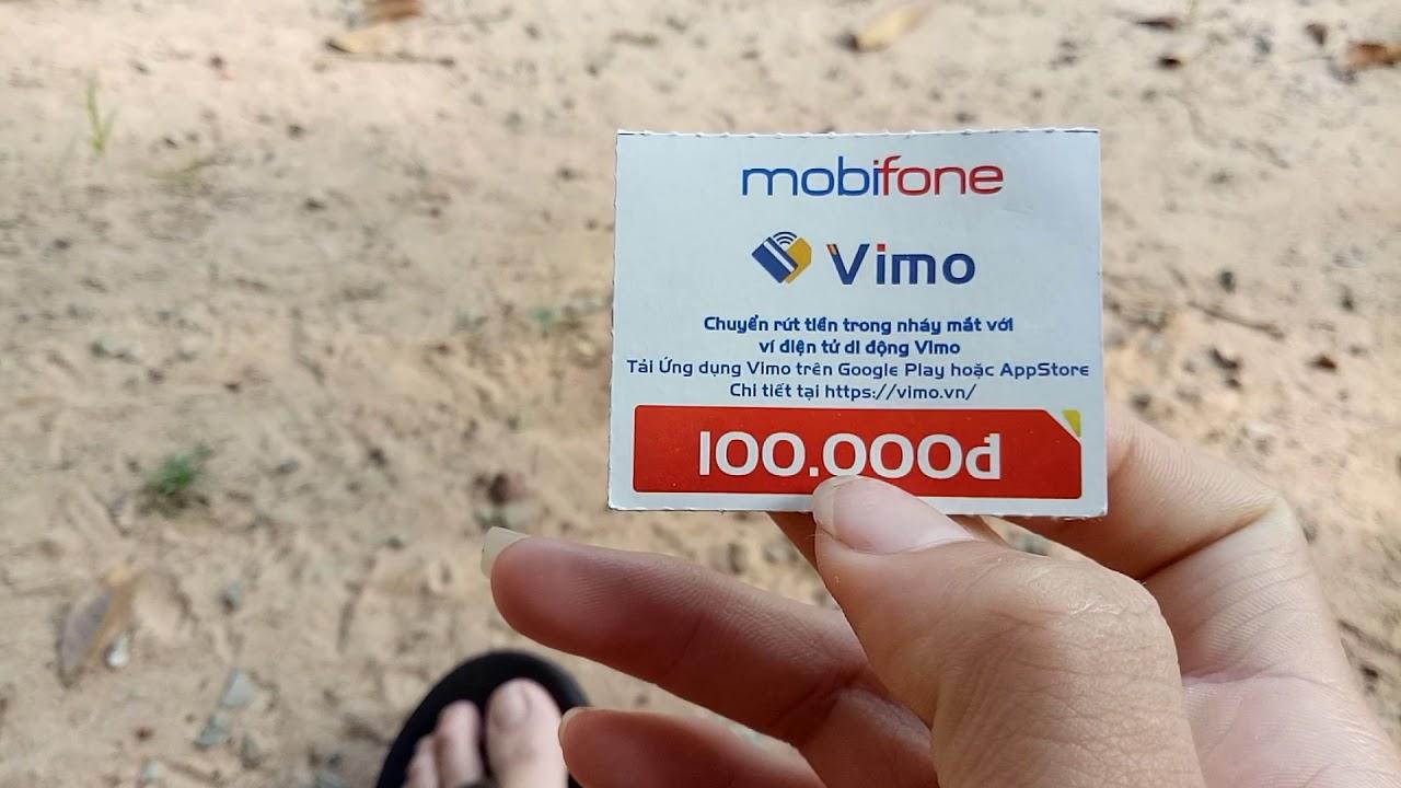 Thẻ cào Mobifone 100k có mã QR