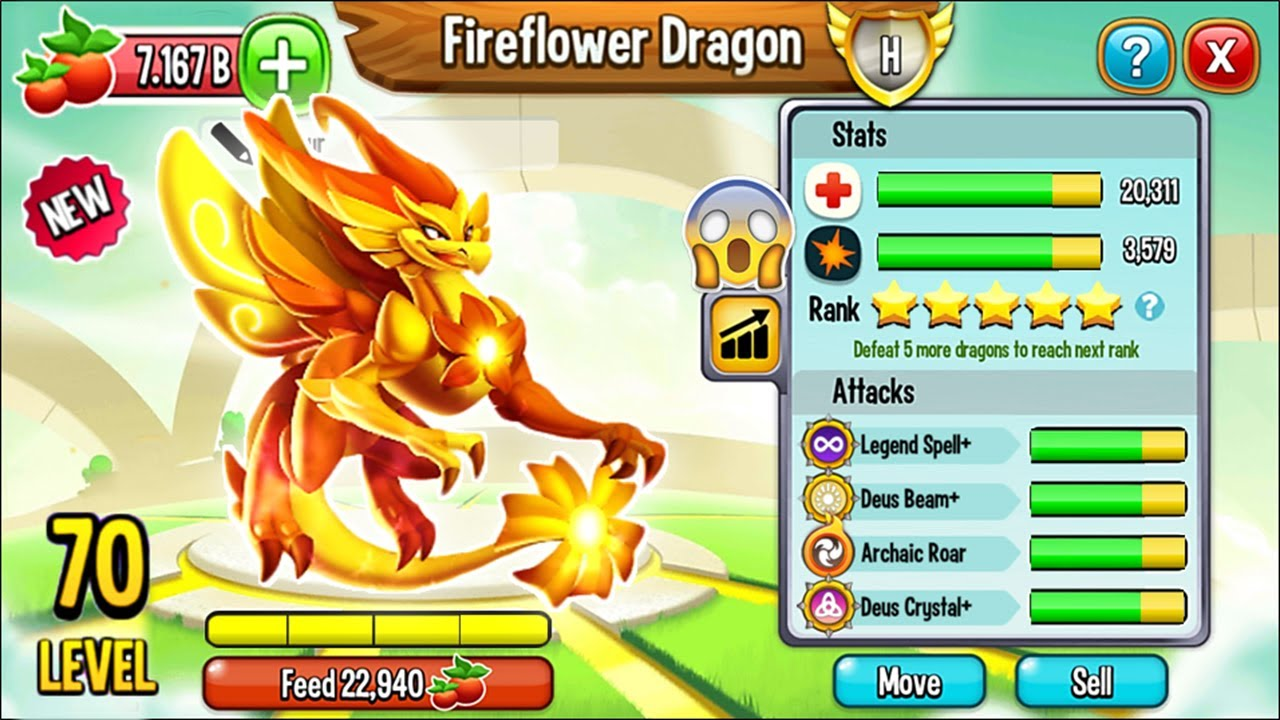 Dragon City: Fireflower Dragon, NEW LEGENDARY | EXCLUSIVE DRAGON ...