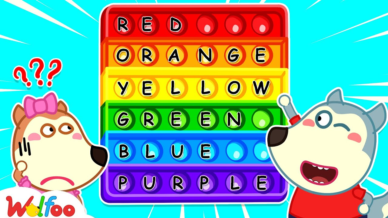 Wolfoo Helps Lucy Learns Colors When Playing Pop It Challenge - Education for Kids | Wolfoo Channel