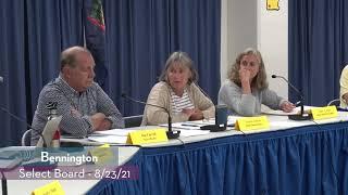Bennington Select Board // 8/23/21
