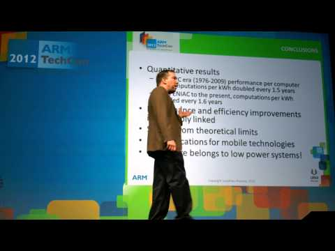 ARM Techcon Keynote: Jonathan Koomey: Why Ultra-Low Power Computing Will Change Everything