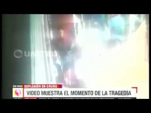 Momento exacto de la Explosión en el Carnaval de Oruro
