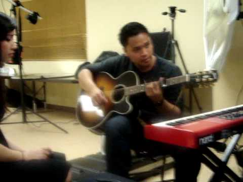 021309 JMI Backstage - Refiner's Fire (practicing) - Passion, Cathy Nguyen, & Bryan Keith