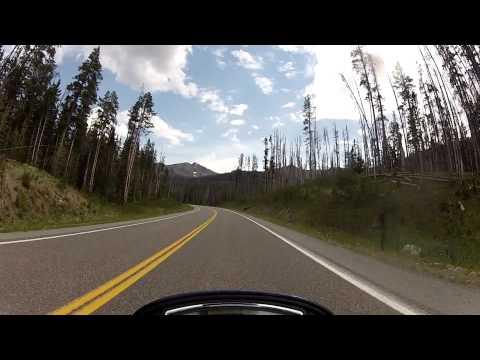 Ride through Yellowstone NP. Fishing Bridge to East Entrance