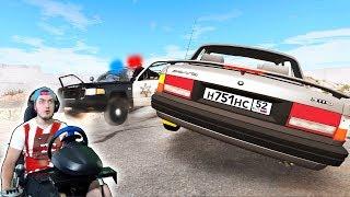Полицейская Погоня За Вором - Beamng Drive + Руль