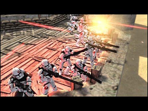 EPIC CLONE FORTRESS DEFENSE - Star Wars: Galaxy at War Mod Gameplay