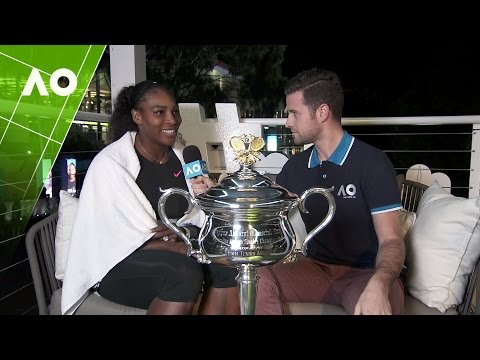 Champion Serena Williams in the Twitter Blue Room | Australian Open 2017
