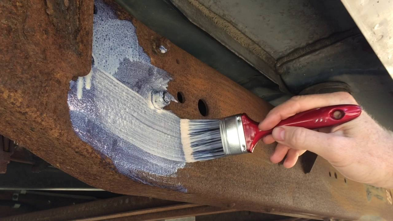 how to paint rusty metal youtube. Black Bedroom Furniture Sets. Home Design Ideas