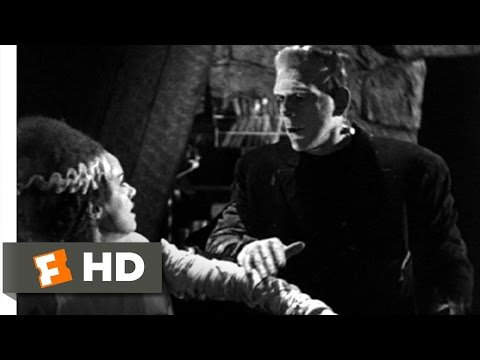 The Monster Meets His Bride - Bride of Frankenstein (10/10) Movie CLIP (1935) HD