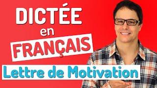 Dictée en français. La lettre de motivation. Niv. A2/B1/B2