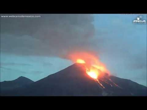 "Timelapse: Lava Eruption at Colima Volcano, Mexico ""Sep, 2016"""