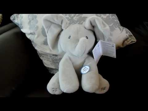 Gund Flappy The Elephant Animated Singing Peek a Boo Soft Toy