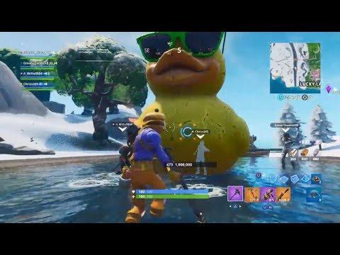 What Happens If You Break The Giant Rubber Ducky | Fortnite
