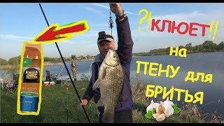 Рыбалка карась ловим на ПЕНУ ДЛЯ БРИТЬЯ невероятный клев ТОЛЬКО У МЕНЯ чеснок звездочка ПУФ